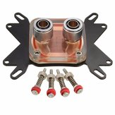 50mm Copper Base CPU Water Cooling Block Waterblock For Intel AMD