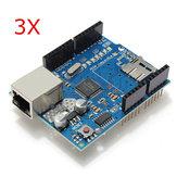 Module de blindage Ethernet 3Pcs W5100 Emplacement pour carte Micro SD pour UNO MEGA 2560 Geekcreit pour Arduino - produits qui fonctionnent avec les cartes officielles Arduino