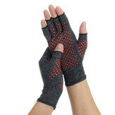 1 para rękawiczki uciskowe na zapalenie stawów ulgę w bólu stawów rękawice ręczne terapia otwarte palce uciskowe rękawiczki