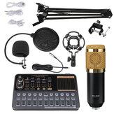 Конденсатор BM800 Микрофон Gaming Live Streaming Audio Studio Record MIC со звуковой картой V10X Pro