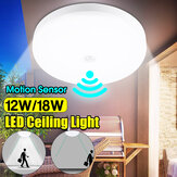12W 18W Intelligent Motion Sensor LED Ceiling Light Non-dimmable Home Fixture Detective Lamp AC220V