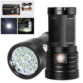 XANES XM11 T6 11x LEDs 3 Modes 2500Lumens USB Rechargeable LED Flashlight & Power Bank