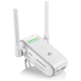 DHMXDC Wireless-N 300 Mbps WiFi Range Extender Wireless Router Repeater AP WPS Mini Dual Antenne esterne Wireless Booster Segnale Punto di accesso wireless