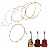 Set of 6 Copper Guitar Strings For Acoustic Guitar