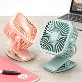 Forma quadrada usb cobrando mini ventilador de refrigeração com ventilador de desktop pequena cabeça clipe