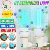 60W 100W 254NM LED UVC majspære E27 UV Germicidal lampe Hjemsteriliserende desinfektionslys AC110V / 220V