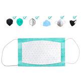 10 pezzi monouso Maschera filtro filtro in cotone filtro antiparticolato Maschera guarnizione Maschera utilizzare filtro per protezione dall'inquinamento Maschera pad 3 strati