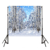 5x3FT 7x5FT 9x6FT Ice Snow Snowflake Forest Photography Backdrop Background Studio Prop