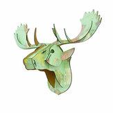 3D Puzzle Modell Kreative Europäische Holz Tierhirsch Kopf Home Dekoration Zubehör Weihnachten Wandbehang Handwerk
