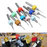 10 pezzi 0,5-1,4 mm set fresa in metallo duro per PCB taglierina da 3,175 mm con codolo per incisione CNC