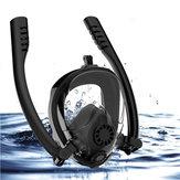 OutdoorAntifogFullFaceScubaSchnorchel Tauchmaske Doppel Tube Schwimmbrille Mit Gopro Kamerahalter