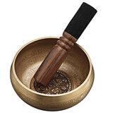 وعاء الغناء التبتي مع نقوش تعويذة الشفاء - وعاء صوت التأمل مصنوع يدويًا في نيبال