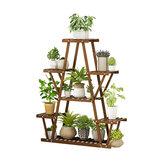 Mehrstufiges Pflanzenregal Blumentopfständer Holz Gartenregal Verkaufsregal Home Office Möbel