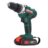 48VF Electric Cordless Drill Driver Screwdriver LED Light 2-speed Power Drill w/ 1 or 2 Battery