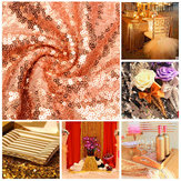 30*180cm Rose Golden Sequins Table Runner Wedding Party Tablecloth Decorate