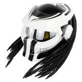 SOMAN Hunter Black Flip Up Custom Laser Light Antifogging Lens Full Face Helmets Cool Casco Moto Motorcycle Helmet