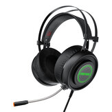 BlitzWolf® AirAux AA-GB1 Gaming Headphone USB 7.1 Surround Sound RGB LED ضوء Stereo Flexible Computer Gaming Headset with Mic