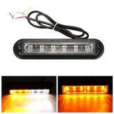 6 LED bar voiture remorque bateau éclairage de secours danger lampe d'avertissement stroboscopique clignotant
