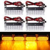 12v 22x4 LED âmbar flash de emergência de advertência lâmpada luz strobe auto