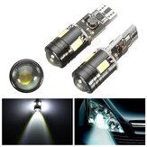 Par de Cabus Sin Errores Xenon Blanco T10 5730 W5W Lámpara Bulbos de LED Luces del Párpado de Coche
