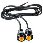 Auto 3W 18MM LED Eagle Oogdag Running DRL Tail Backup Light