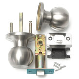 Stainless Steel Bathroom Round Ball Door Knob Set Handle Passage Lock With Key
