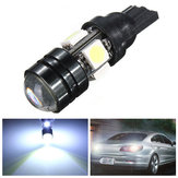 T10 Car LED Auto Lamp 5W-12V Light Bulbs With Bifocal Lens White Light