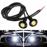 23mm 3W Αυτοκίνητο Αυτοκίνητο Eagle Eye LED Φώτα ημέρας Φώτα ομίχλης DC12V Μαύρο κέλυφος
