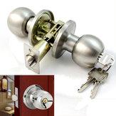 Salle de bains en acier inoxydable poignées de porte rondes mis écluse d'entrée de la poignée avec clé