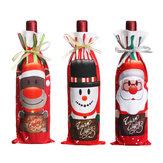SantaNoelŞekerÇantalarŞarapStoklama Şişe Taşıyıcı Hediye Noel Ambalaj Çanta Dekorasyon