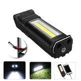 2LED + COB 400LM LED Arbeitsleuchte USB wiederaufladbar Faltbar 270 ° verstellbar Taschenlampe Autowartungsleuchte Camping Travel