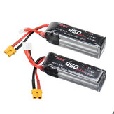 ALIENMODEL HV 11.4V 450mAh 80C 3S Lipo Battery XT30 Plug for RC Aircraft Quapcopter Drone