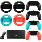 10 em 1 Carregador Stand Controller Grip Holder Steering Wheel para Nintendo Switch