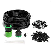 20m 66 Inch Spray Hose and 20pcs Sprinkler Nozzle Garden Patio Water Mist Coolant System