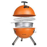 Outdoor Portable BBQ Grill Round Charcoal Oven Barbecue Picnic Stove