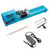150W 12V-24V Mini Beads Machine Miniature Lathe DIY Woodworking Lathe Grinding Polishing Wood Working DIY Lathe Polishing Drill Rotary Tool