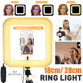 D21 D35 Square LED Ring Light Live Beauty Selfie Lights Phone Holder USB Plug for Youtube Tiktok Vlog Makeup