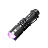 SHENYU SY1003 AA/14500 Flashlight UV 395nm LED Purple Violet Light Detecting Fluorescer Money Multifunction Lamp For Camping Hunting