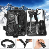 IPRee® 13 In 1 Outdoor EDC SOS Survival Case Multifunktionswerkzeug Satz Box Camping Emergency
