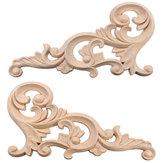 20×10センチ木彫りコーナーアンレー未塗装フレーム装飾