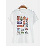 Męskie letnie luźne trendy współczujące koszulki z krótkim rękawem