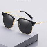 Мужские сверхлегкие овальные металлические поляризованные солнцезащитные очки в полной оправе UV Защитные солнцезащитные очки