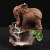 Elephant Backflow Incense Burner Holder Censer Ceramic Home Decorations