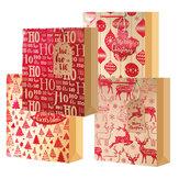 Рождество Санта Клаус Лось Сумка Бумажный Праздник Xmas Candy Сумка Подарок Партии