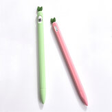 1pc Silicone Protective Sleeve Anti Slip Lovely Apple Protective Pen Case Tablet Touch Pen For Apple Pencil 1/2 Generation