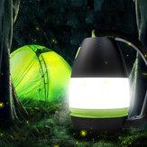 IPRee® 3 em 1 luz para barraca de acampamento à prova d'água Móvel Carregador de Bateria Portátil Lanterna para exterior portátil pendurada lanterna lâmpada de mesa