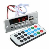 DC 12V / 5V MP3 decodificar placa LED USB AUX FM Bluetooth Radio Amplificador com controle remoto