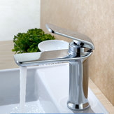 Simple Hot & Cold Single Handle Water Faucet Bathroom Basin Sink Mixer Tap Deck Mount 4 Colors