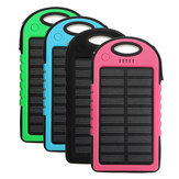 Draagbare 4000 mAh Zonne-energie Systeem LED USB Batterij Oplader Box Case voor Camping Outdoor