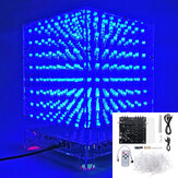 3D Light Cube Kit 8x8x8 Azul LED MP3 Music Spectrum DIY Kit electrónico